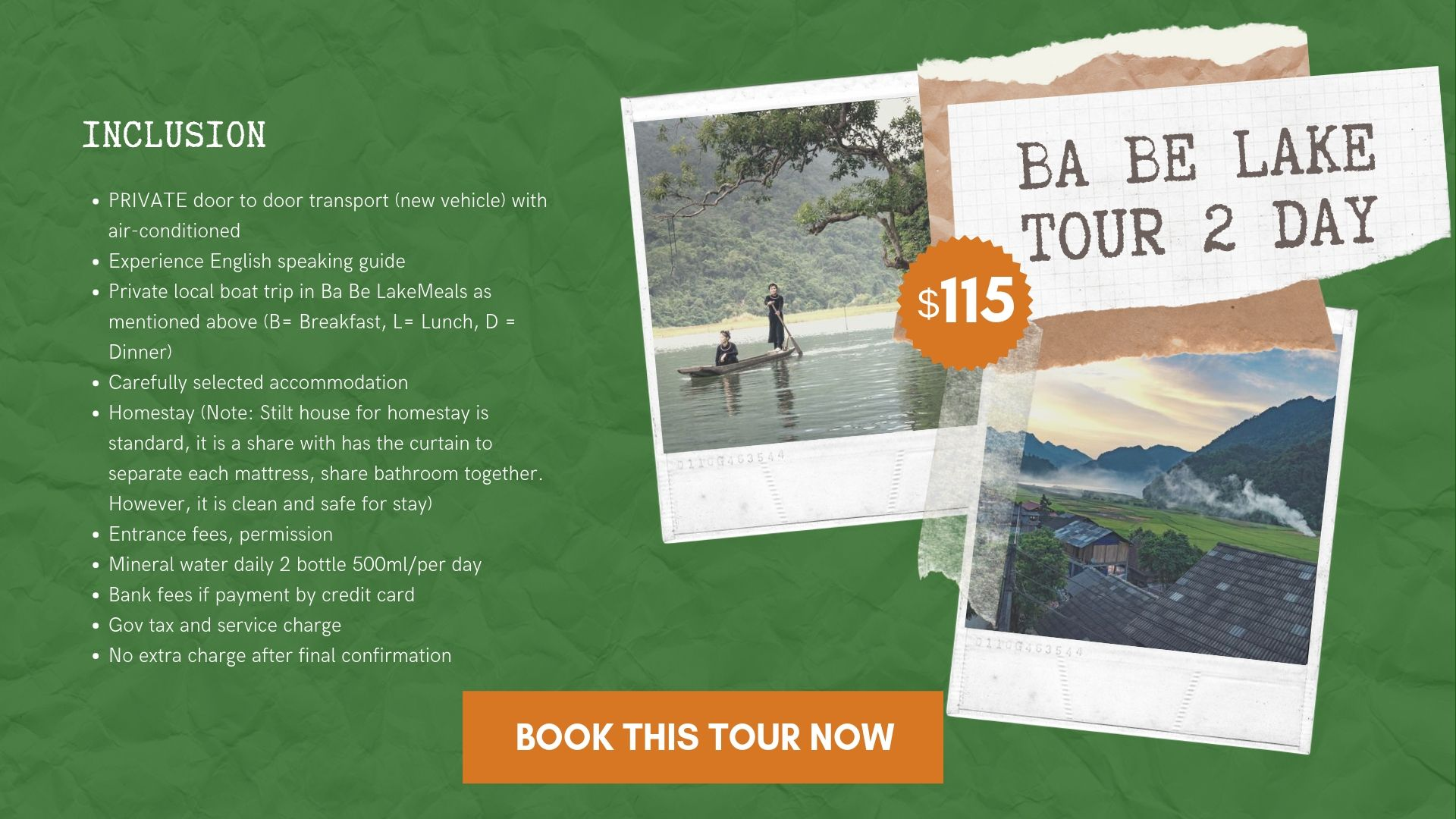 Special 2 day tour from Hanoi