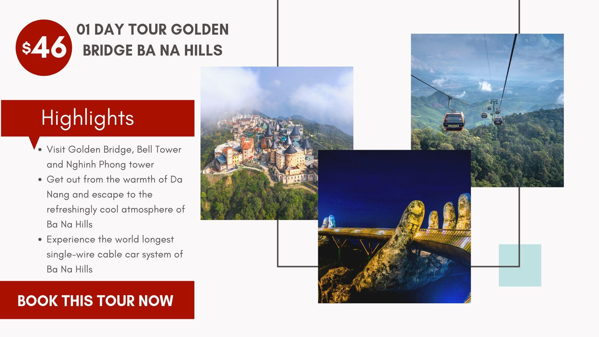 Tour Vietnam Golden bridge