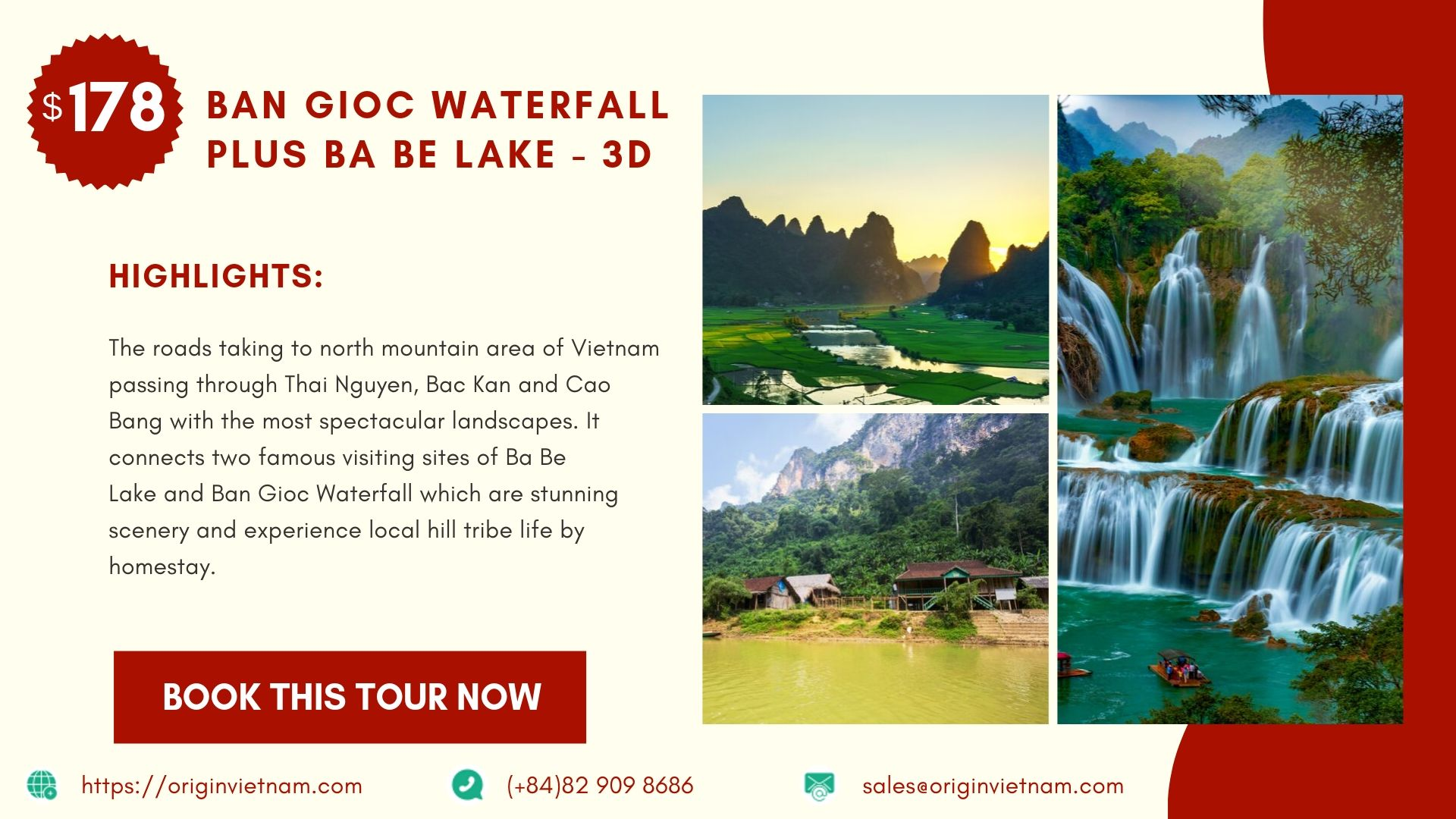 Ban Gioc waterfall plus Ba Be Lake trip from Hanoi