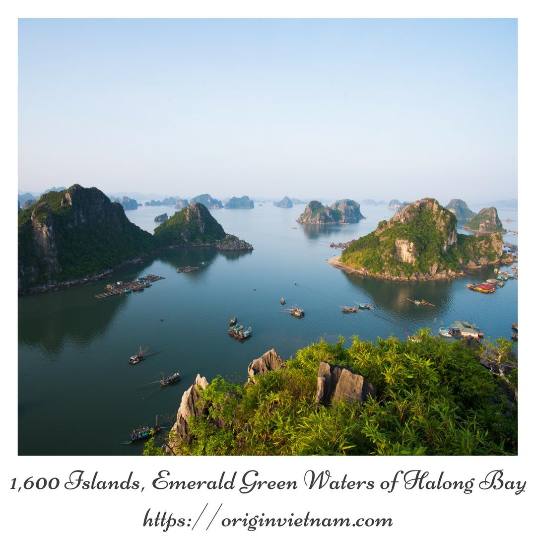 1,600 Islands, Emerald Green Waters Of Halong Bay