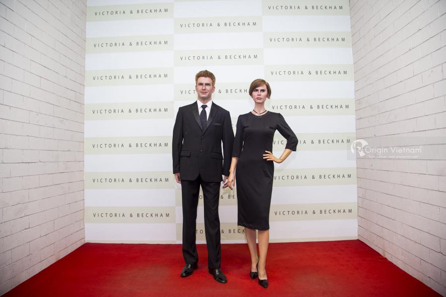 David Beckham and singer wife, designer Victoria Beckham.
