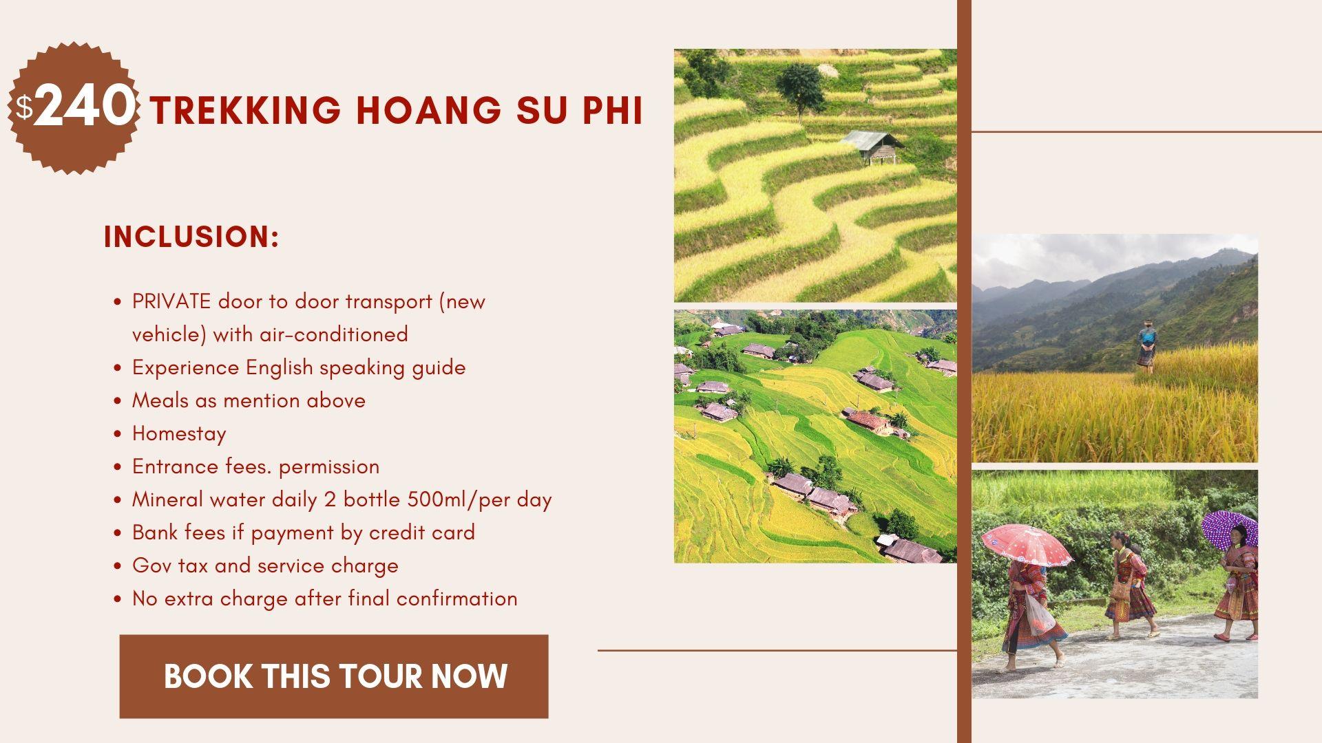 Tour Trekking Hoang Su Phi 4 days
