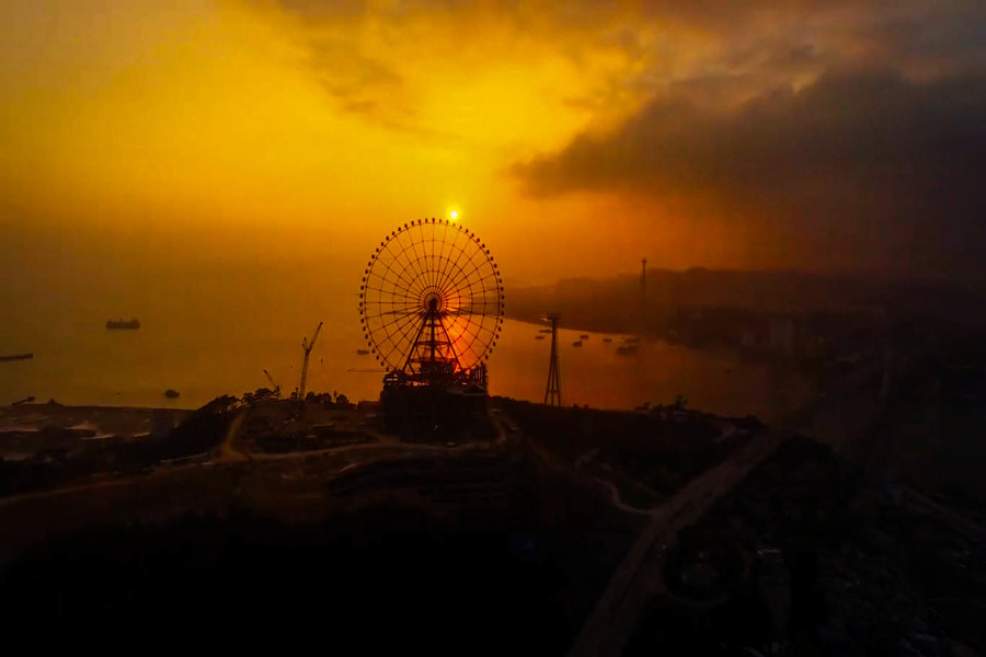 The sunset from the Sunwheel