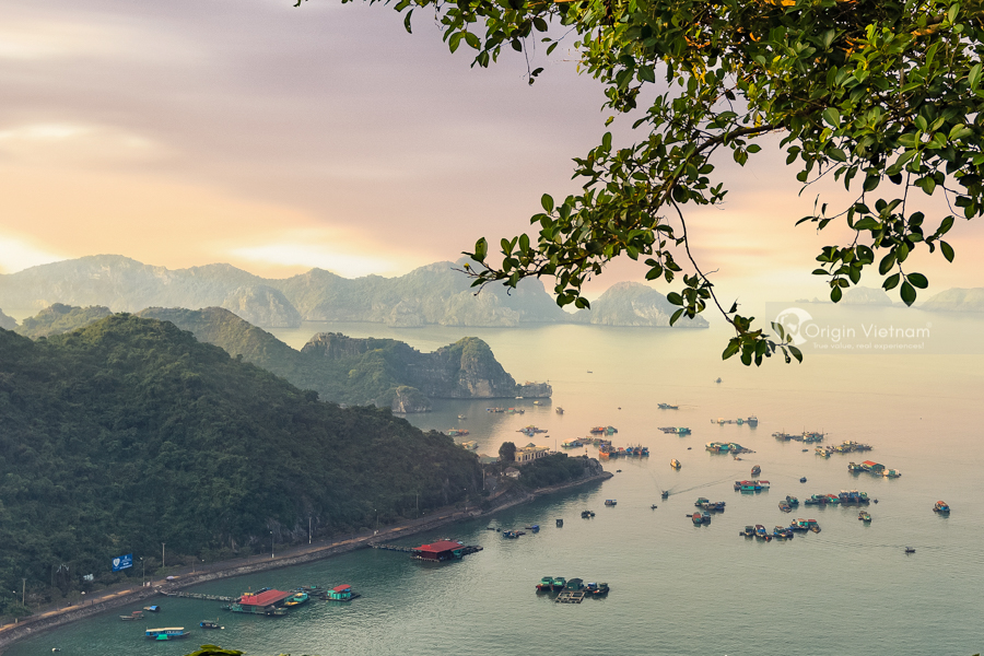 View Lan Ha Bay from Cat Ba Island