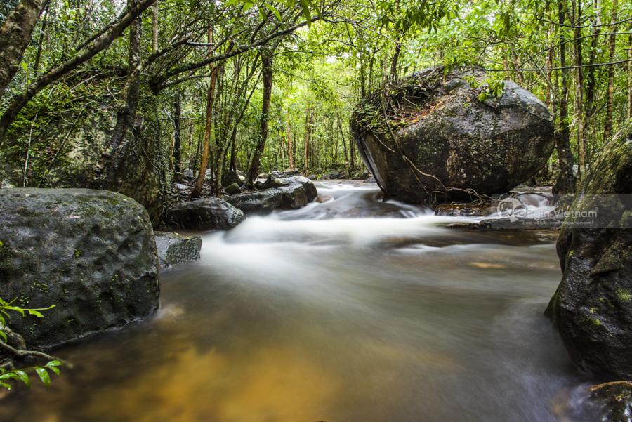Beautiful waterfall on Phu Quoc Island