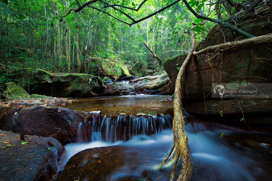 waterfall on the way trek to Phu Quoc island