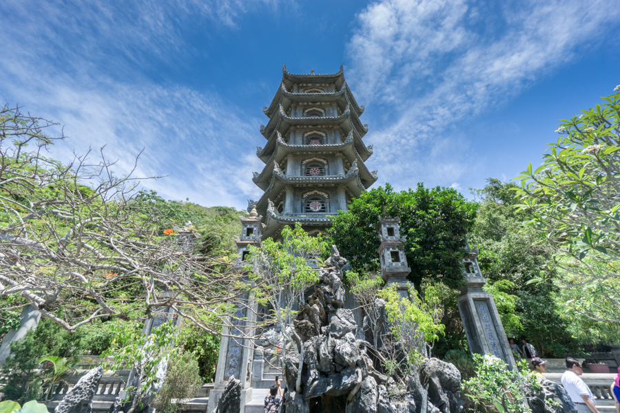 Temple tower in Ngu Hanh Son