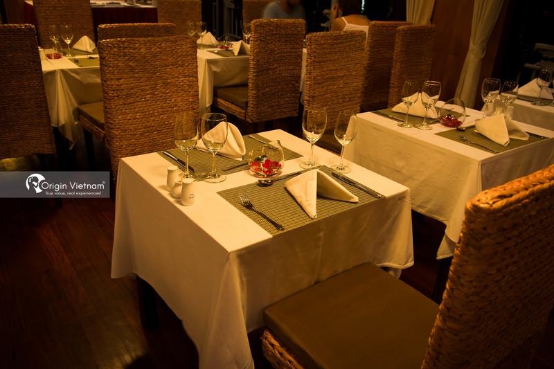 Restaurant of overnight cruise