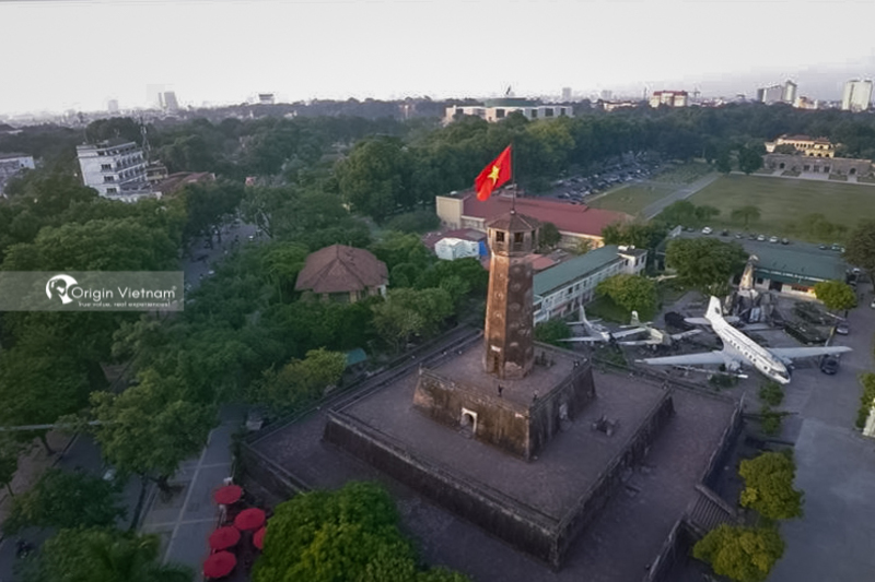 Hanoi Flag Tower from above