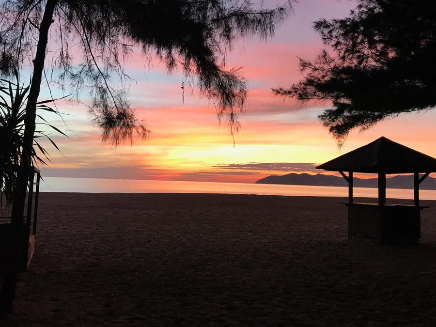 Sun set at Lang Co Beach