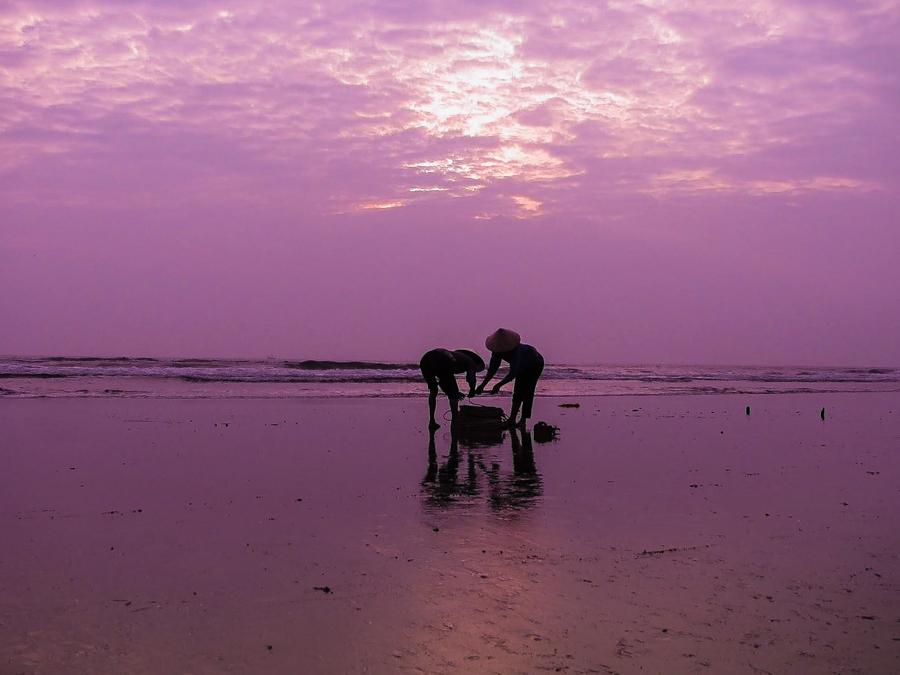 Sunset on Tam Giang Lagoon
