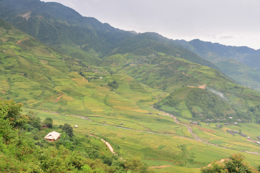 Image view from homestay at Tu Le