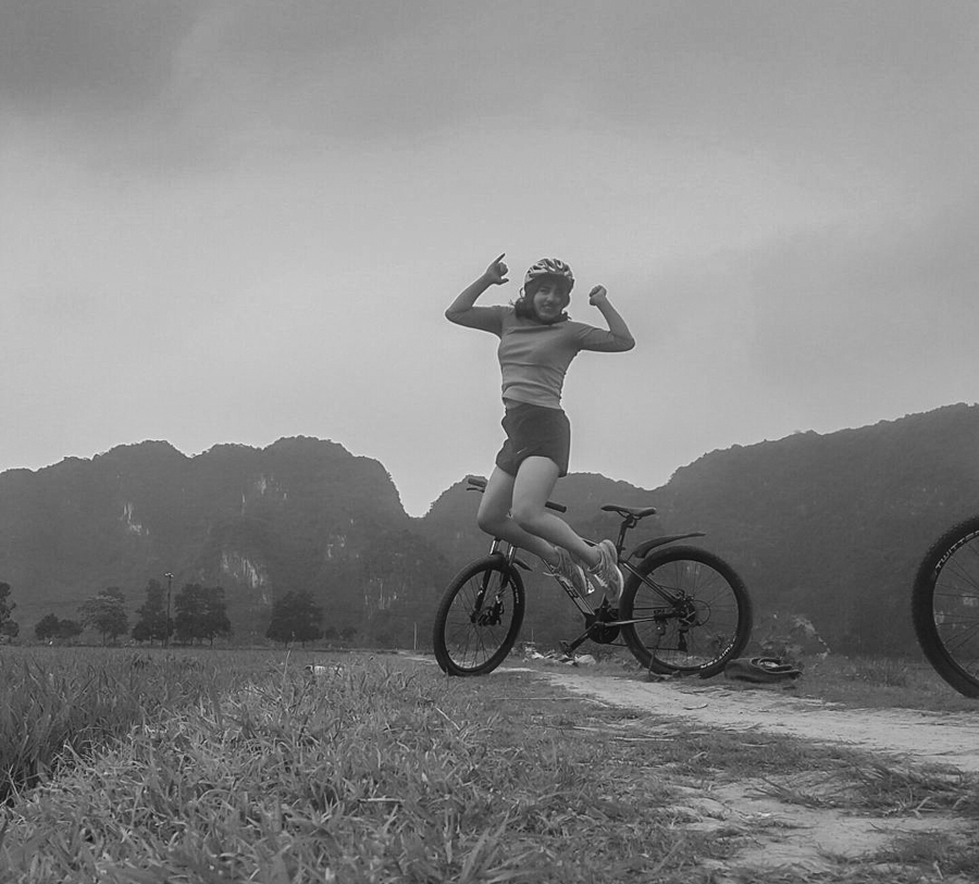 Happy customer while Cycling in Ninh Binh