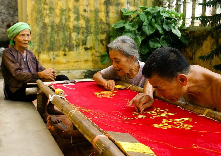 Van Lam Embroidery Village