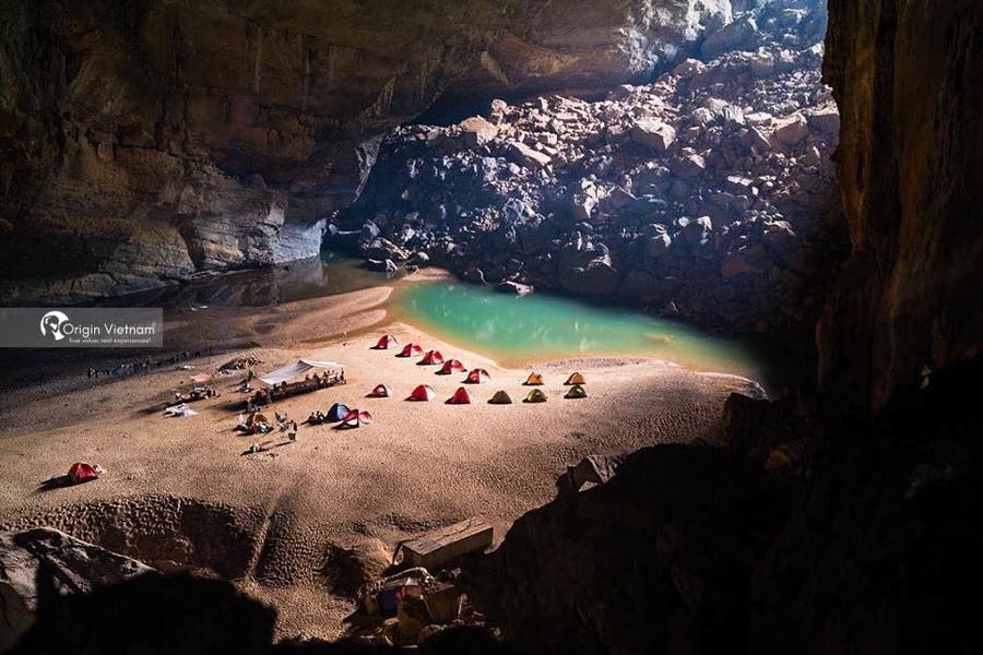 Camping in En cave