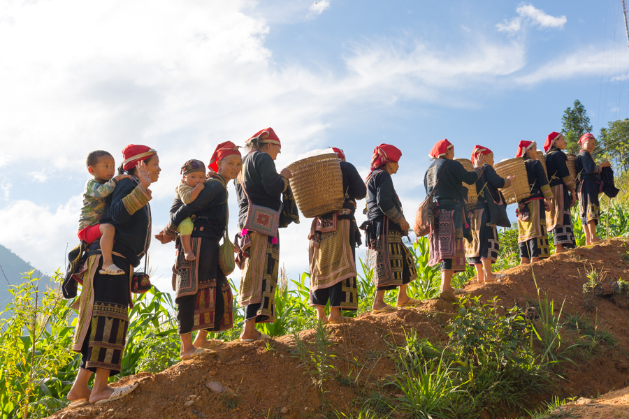 trekking to Ta Phin Village - where can meet red zao people