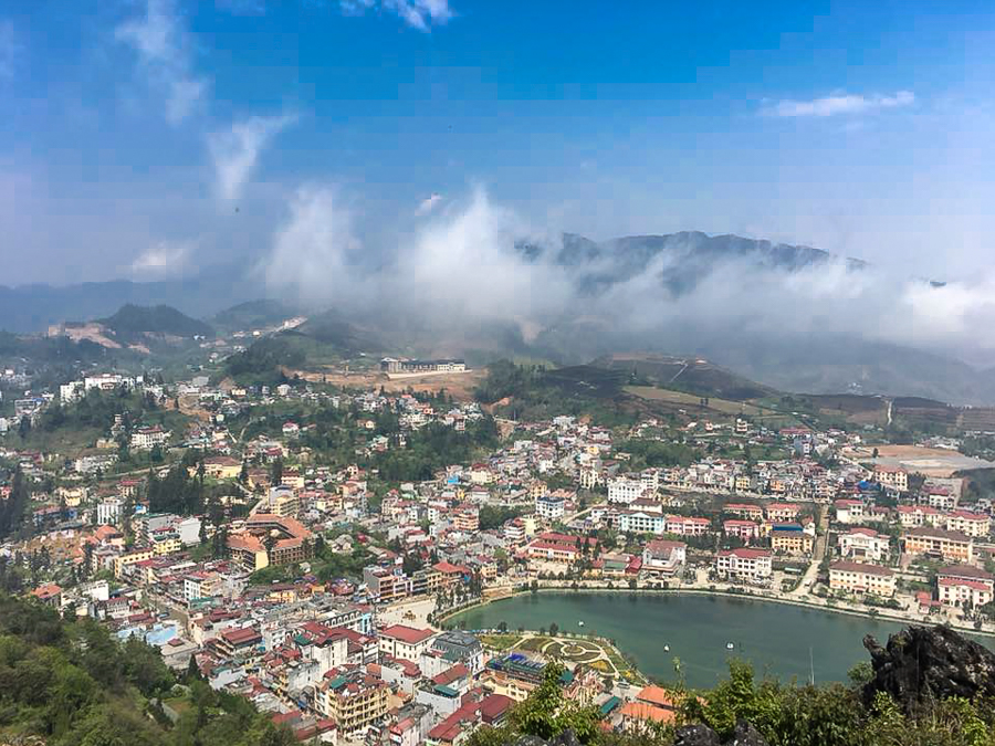 Panorama view from Ham Rong Mountain