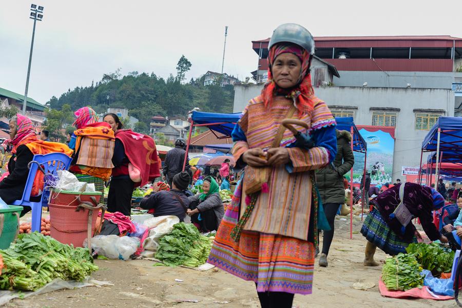 Hmong woman in Market Sapa