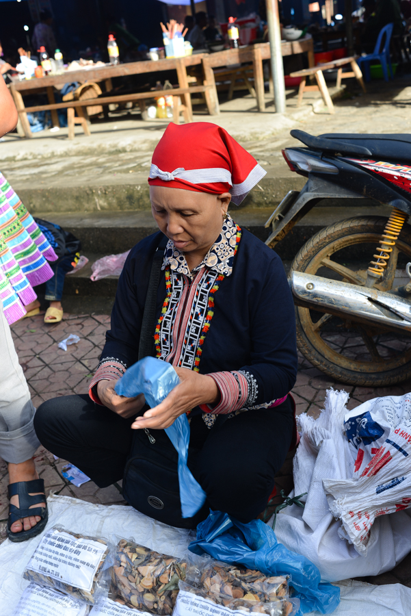 Red zao in Bac Ha Market
