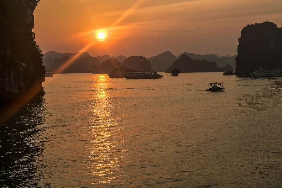 Halong Bay sunset